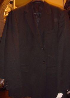 Doc & Amelia Black Blazer 2 Button Jacket Size 44 Reg New Tags Extra Buttons #DocAmelia #TwoButton