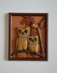 Vintage Wood and Copper Owl Wall Hanging by theskinnyvintage, $14.00