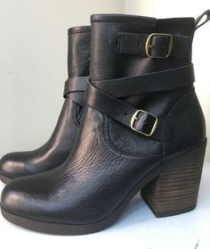 NEW Lucky Brand Orenzo Black Buckle Ankle Boot - Size 9.5 #LuckyBrand…