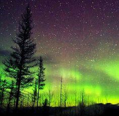 Northern lights in Glacier Park Montana
