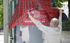 Peek-A-Boo Advertisements:  The Up-Skirt Ad for Norwegian Airlines is Interactively Funny (by Volt, Sweden)
