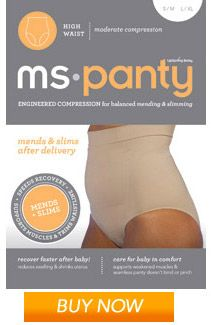 MS Panty Reduces swelling + supports muscles weakened from pregnancy. Can be worn as a shaper after recovery