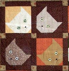 The expressions on the kitties are priceless. The fabric choices are warm and cozy, like a kitten's purr.