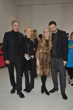 Franca Sozzani Photos - Carla Sozzani, Franca Sozzani and Fabio Novembre attend the Costume National show as part of Milan Fashion Week Womenswear Autumn/Winter 2014 on February 20, 2014 in Milan, Italy. - Costume National - Front Row - Milan Fashion Week Womenswear Autumn/Winter 2014