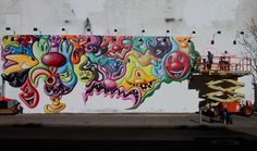 BREAKING :: New Kenny Scharf Culver City Street Mural - http://art-nerd.com/losangeles/breaking-kenny-scharf-culver-city-street-mural/