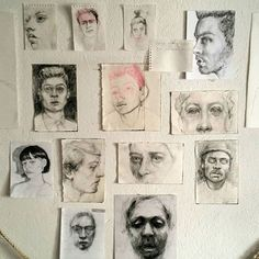 Wall of drawings . Sketches, Art Hoe Aesthetic, Art Sketchbook, Art Drawings, Drawings, Student Art, Illustration Art, Art, Portrait Art