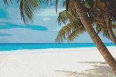 Tropical Paradise Cross Stitch Pattern by Mydreamsofavalon on Etsy, $6.00