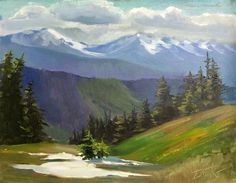 "Daily+Paintworks+-+""Hurricane+Ridge+2""+-+Original+Fine+Art+for+Sale+-+©+Tatsiana+Mikhailava"