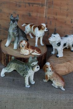 Vintage Porcelain Dog Collection
