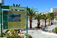 Playa El Salon à Nerja, Malaga - Costa del Sol (Espagne)