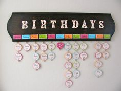 Birthday Board! Now you'll always remember who's birthday is when!
