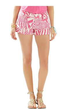 Lilly Pulitzer 3 inch Walsh Short in Capri Pink Yacht Sea