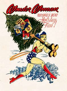 Wonder Woman Christmas Card, 1943