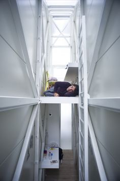 Inside The Keret House  the Worlds Skinniest House  by Jakub Szczesny (6) #Japan