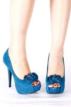 #teal womens couture shoes | PEEP TOE HEELS,Sexy Heels,High heel shoes,Women's sexy heel shoes ...