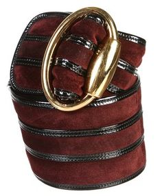 Gucci Burgundy Suede and Patent Leather Belt (Size 35). Get the lowest price on Gucci Burgundy Suede and Patent Leather Belt (Size 35) and other fabulous designer clothing and accessories! Shop Tradesy now