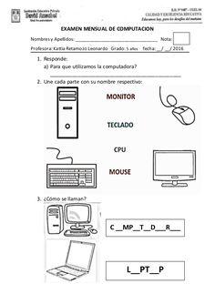 Examenes de 5 años Computer Lessons, Worksheets, Projects To Try, Diagram, Salvador, Quran, Google, Disney, Model