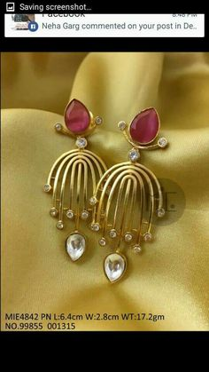 How To Choose Jewelry Jewelry Design Earrings, Gold Earrings Designs, Gold Jewellery Design, Ear Jewelry, Bridal Jewelry, Gold Jewelry, Designer Jewellery, Pendant Jewelry, Antique Jewellery Designs