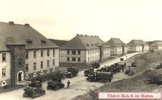 Baumholder, Germany (while occupied by the Nazis).  These buildings were what we lived in as base housing.