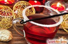 Sparkling Pomegranate Punch Recipe via @SparkPeople