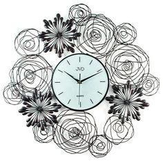 Nástenné hodiny dizajn JVD HJ68 60cm, nastenne hodiny, na stenu, dekoracie do bytu, dizajn Garden Crafts, Wrought Iron, Modern Design, Home Decor, Clocks, Amazon, Flower, Wall, Large Clocks For Walls