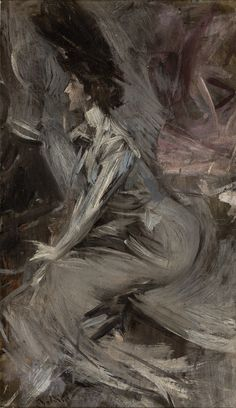 Sitting Lady (The Talk) via Giovanni Boldini