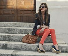 I am on the search for some coral colored pants.