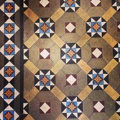 beautiful original tile floor from a Victorian terraced house in #highbury