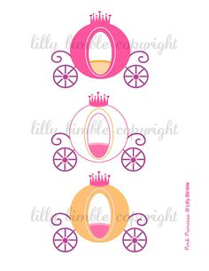 80% off Princess clipart for birthday invites by LillyBimble