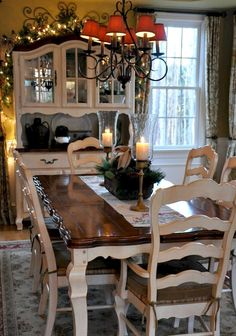 French Country Dining Room Table And Decor Ideas (36