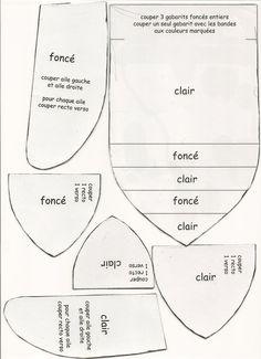 Une autre façon de réaliser des sachets de lavande......... Voici un modèle de CIGALE qui peut se réaliser en 3 dimensions. Pour pouvoir mettre de la lavande ou autre.. A savoir pour la confection de ces cigales : -Tissus fin en coton en 2 coloris (25...