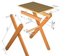 Plans for small folding table.