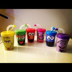 Sesame Street party favor cups