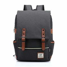 Cheap mochila brand, Buy Quality mochila fashion directly from China canvas backpack women Suppliers: Fashion Men Bag Canvas Backpack Women Oxford Travel Bags Retro Backpacks Teenager School Bag Women Famous Brands Mchila Mochilas Backpack For Teens, Backpack Bags, Leather Backpack, Fashion Backpack, Travel Backpack, Retro Backpack, Travel Bags, Backpack Cooler, Modern Backpack