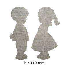 Appliqué textile à repasser forme silhouette enfant. : Déco, Customisation Textile par je-m-applique