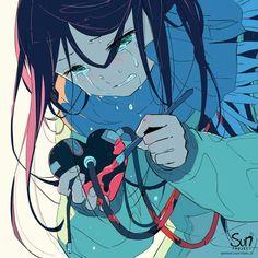 Sorrow Repost with credits Concep Sad Anime Girl, Anime Art Girl, Anime Love, Anime Girl Crying, Anime Triste, Dark Art Illustrations, Illustration Art, Image Triste, Sun Projects