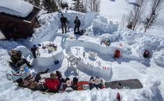 Snow Fort Family Pit