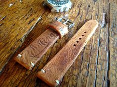 22mm Baseball Glove Watch Strap from a Vintage Rawlings glove from 50s