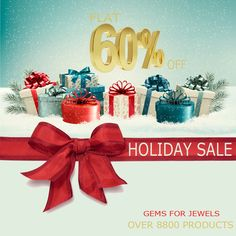 Gift wrapped with love - Gemsforjewels brings you the Holiday Sale - Flat 60% off on all items. Shop through the Semiprecious, Precious Gemstones, Rough Diamonds and Rose Cut Diamonds Collection. New additions every hour. Convo us for Custom requests.