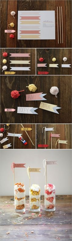 Straw Flag Place Cards   35 Cute And Clever Ideas For Place Cards