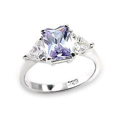 Silver Ring with Light Amethyst Cubic Zirconia Fine Jewelry Gift, VORI06-03498