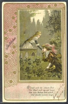 NG069-ART-NOUVEAU-COUPLE-MUSKETEER-TRUMPETER-Serie-N-1401-Fine-LITHO-1902