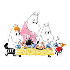 Moomin morning tea