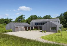 Modern Barn Style Home in Europe Modern Barn House, Timber House, Modern Residential Architecture, Architecture Design, Contemporary Barn, Shed Homes, Small Buildings, Home Fashion, Exterior Design
