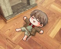 Foto Bts, Bts Photo, Loli Kawaii, Kpop Drawings, Album Bts, Cute Anime Guys, Bts Chibi, Korean Art, Bts Lockscreen