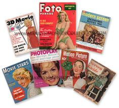 Marilyn-Monroe-Personal-Magazine-Collection. Seven gossip magazines owned by Marilyn Monroe. Marilyn is featured on three covers as well as in many articles.