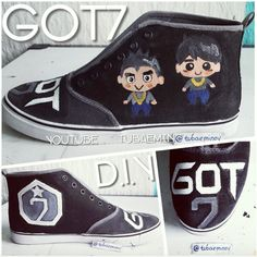 "●○ D.I.Y GOT7 Shoe ●○  ▶ Who should I paint next?  I want to make a new DIY. Which Band should I paint on the Shirt or which Member. EXO OR BTS. Or Kpop Tshirt ?! ▶ now online YouTube : "" tubaemin ""  ------------------------------------------- #got7 #jackson #mark #jr #jb #artist #artwork #YOUTUBE #fanart #bigbang #taeyang #gdragon #bts #exo #howtodraw #2pm #infinite #shoes #shoe #doityourself #diy #tshirt #painting #summer #swag #korea #boy #happy #swag"