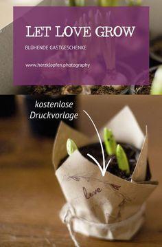 DIY Gastgeschenke: Blumen in Kraftpapier mit kostenloser Druckvorlage Spring Wedding, Events, Freebies, Photography, Diy Wedding Decorations, Kraft Paper, Celebration, Make Your Own, Photograph