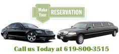 Limousine and Sedan Car Reservations available in San Diego