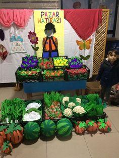 El yapımı meyveler sebzeler Pazar